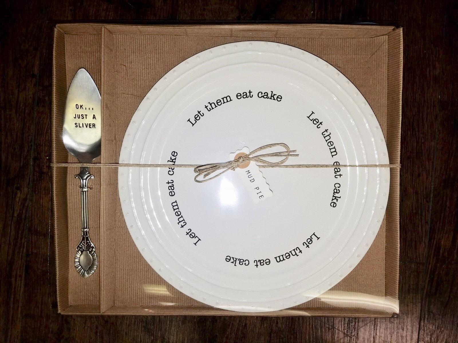 Let Them Eat Cake Plate Set 718540278116