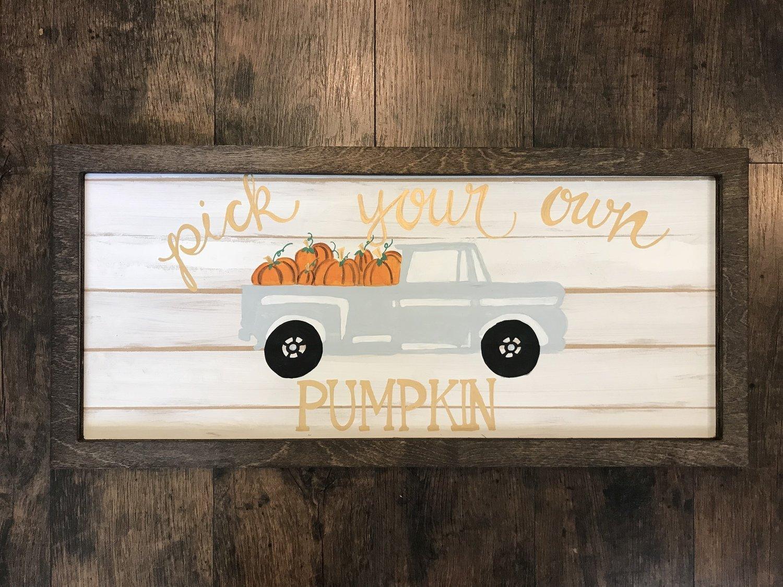 SSC Pumpkin Truck Painted Picture