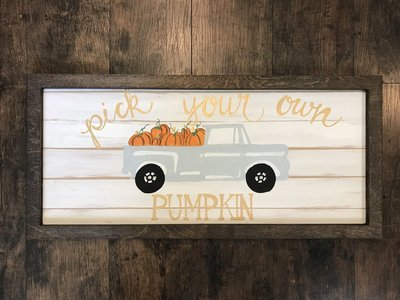 SSC Pumpkin Truck Painted Picture