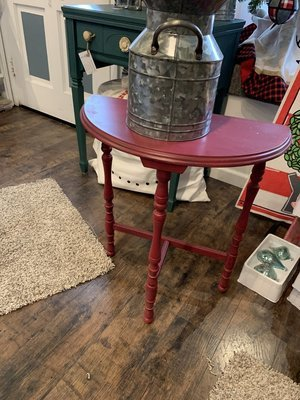 SSC Red Antique Hall Table
