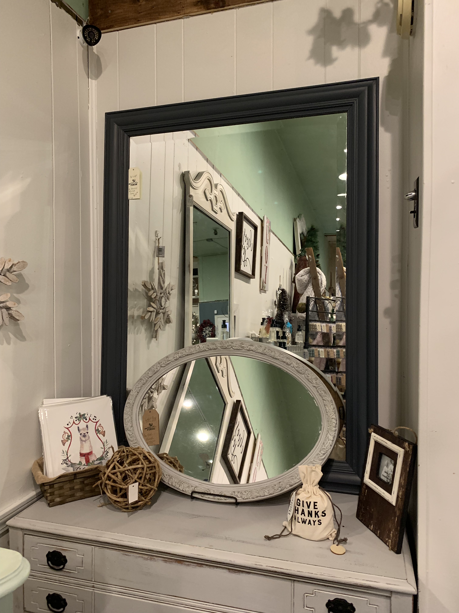 Large Beveled Mirror fgf108