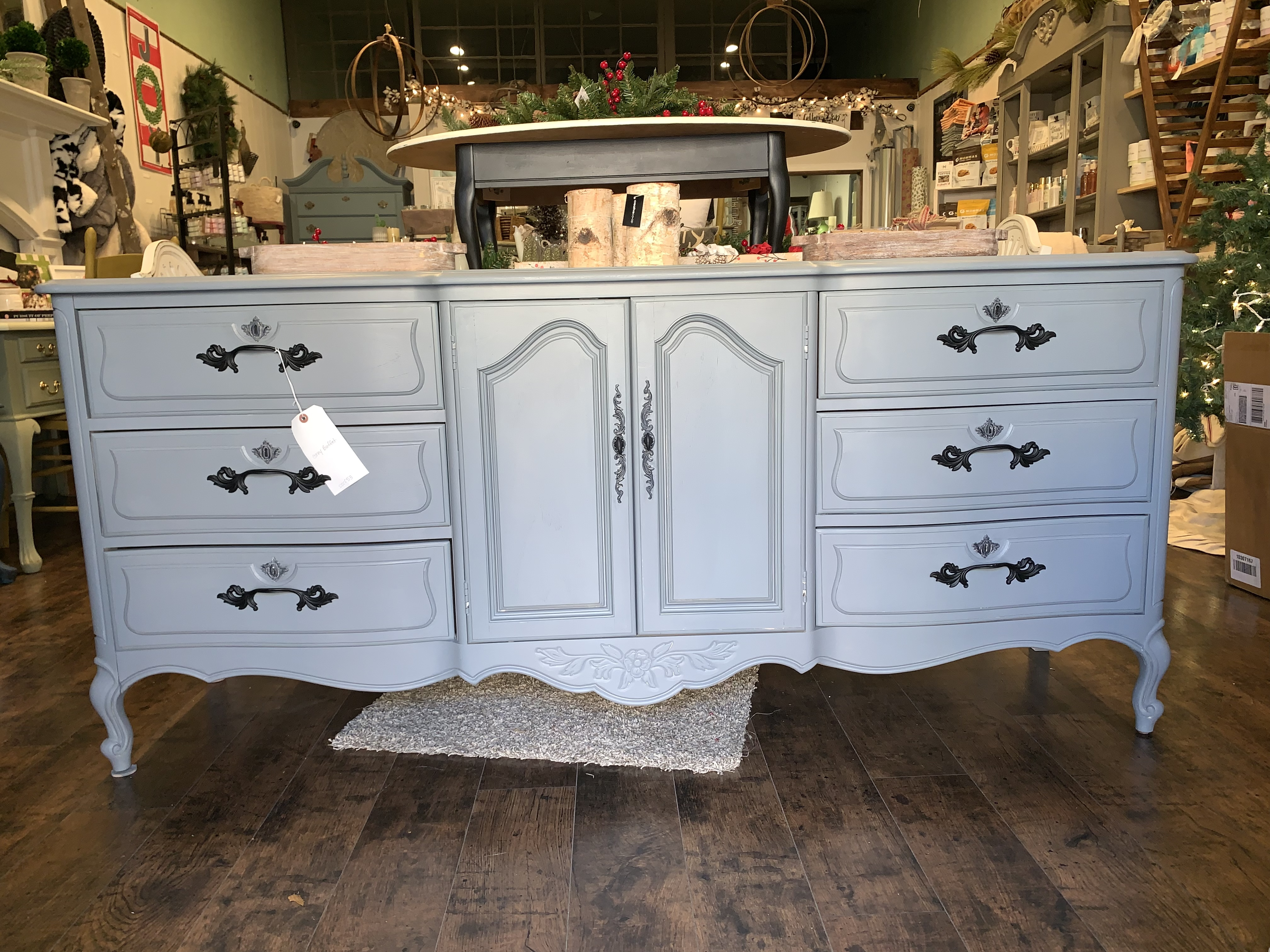 Grey with Black Handles French Style Buffet sscf53