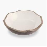 Wood Enamel Salad Bowl 718540458723