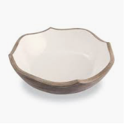 Wood Enamel Salad Bowl