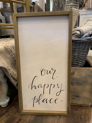 Our Happy Place Wall Decor