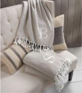 Mud Pie Throw Blanket - Letter F 718540497142