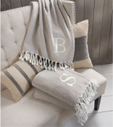 Mud Pie Throw Blanket - Letter F