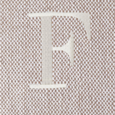 Mud Pie Throw Blanket - Letter F