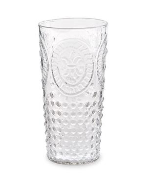 Fleur De Lis Embossed Glass