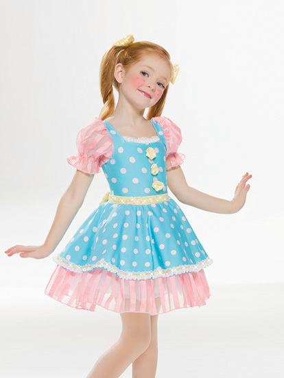 Blue and Pink Dance Costume 02866