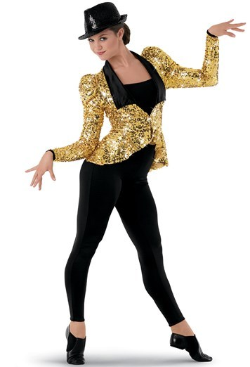 Gold and Black sequin jacket 02871
