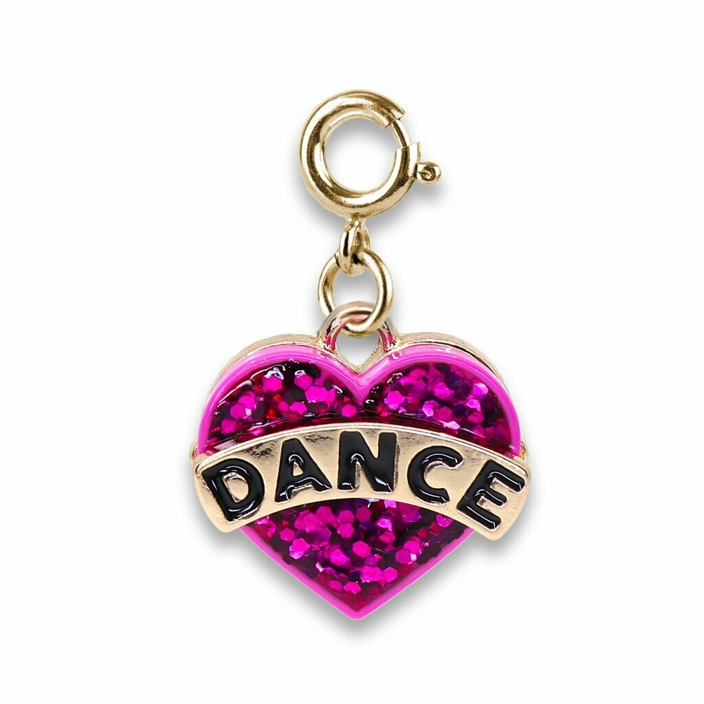 Charm It - Charms 12/19 Gold Glitter Dance