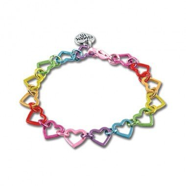 CHARM IT! Rainbow Heart Link Bracelet 11