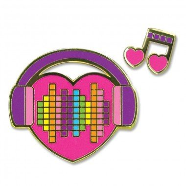 CHARM IT! Enamel Pins Music Heart