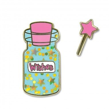 CHARM IT! Enamel Pins Wishes Bottle