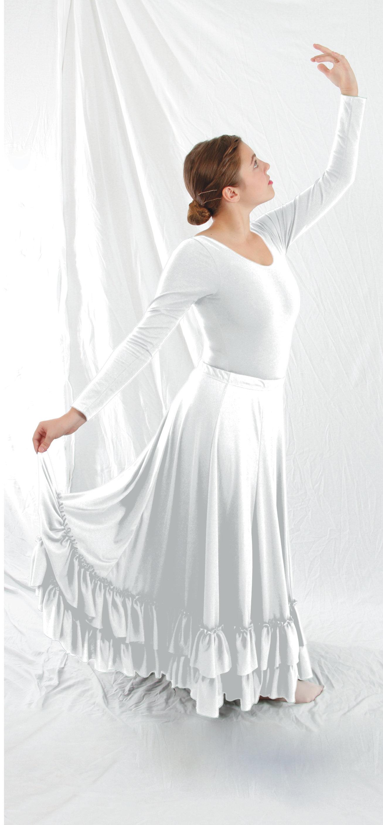 Basic Moves - Plus Size 540° Skirt Ad White ONFA 630089030591