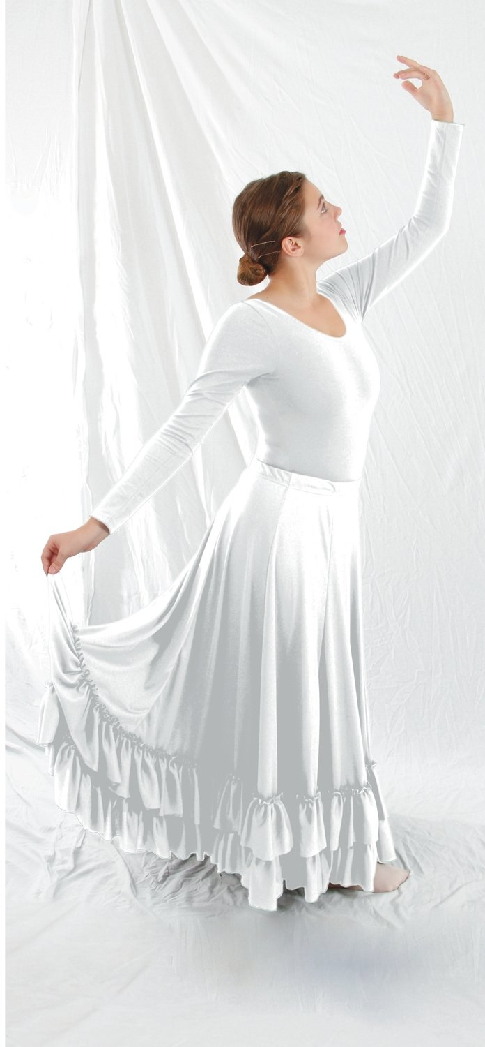 Basic Moves - Plus Size 540° Skirt Ad White ONFA