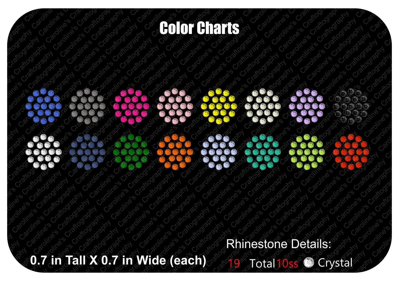 Rhinestone/Rhinestud Color Charts