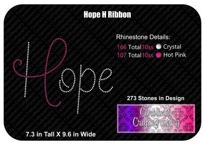 Hope H Ribbon Stone