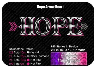 Hope Arrow Heart Stone