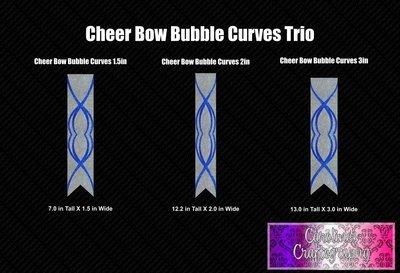 Bubble Curves Vinyl Cheer Bow Trio Bundle