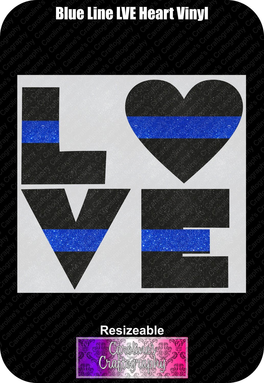 Blue Line Heart LVE Vinyl
