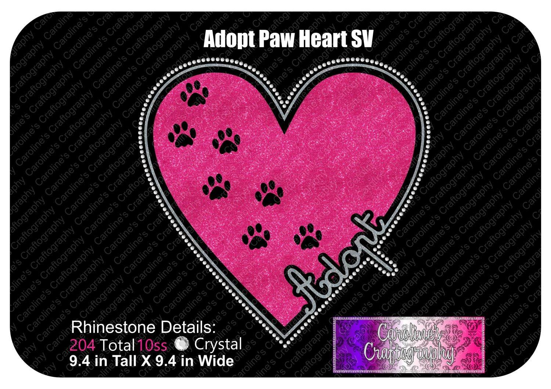 Adopt Paws Heart Stone Vinyl