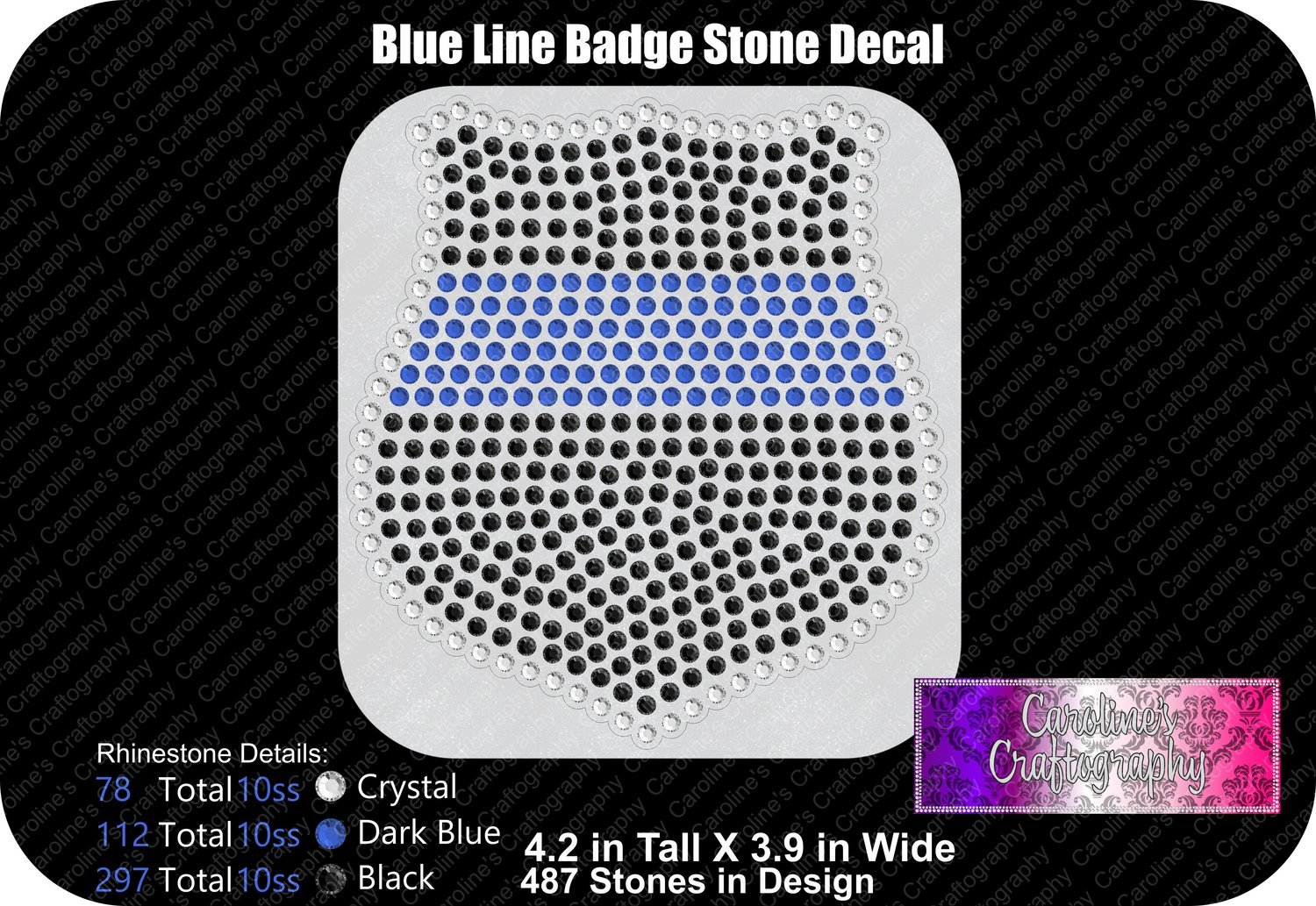 Blue Line Badge Stone Decal