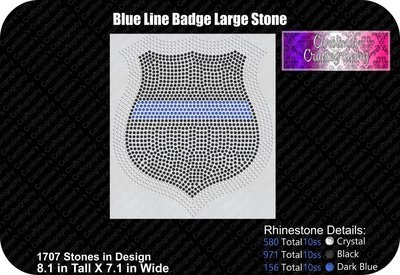 Blue Line Badge Large Stone