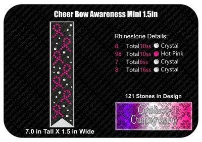 Awareness Ribbon 1.5in Mini Cheer Bow Stone