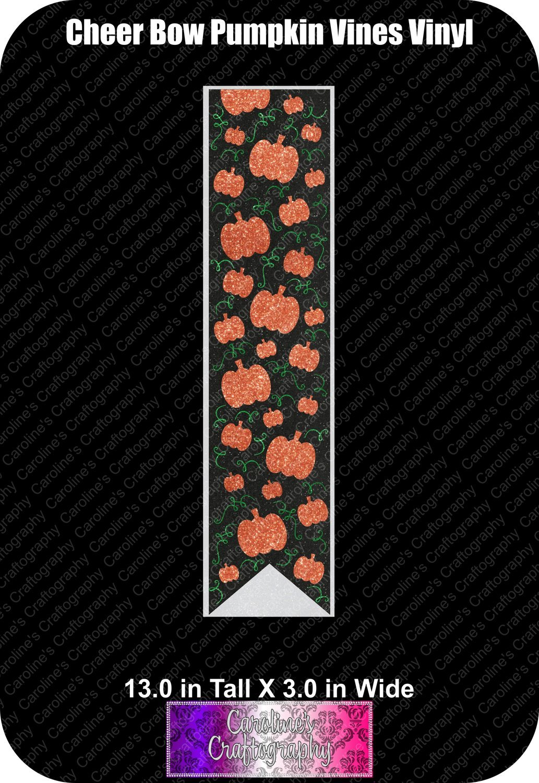 Pumpkin Vines Vinyl 3in Cheer Bow