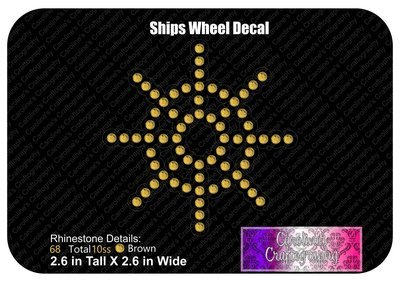 Ships Wheel Stone Decal