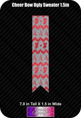 Ugly Sweater 1.5in Cheer Bow Vinyl