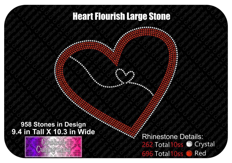 Heart Flourish Large Stone