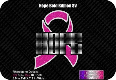 Hope Ribbon Bold Stone Vinyl