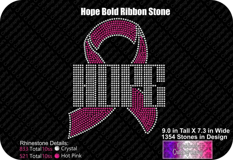 Hope Ribbon Bold Stone