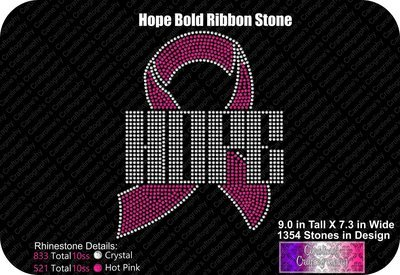 Hope Ribbon Bold Stone