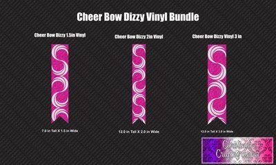 Dizzy Cheer Bow Vinyl Bundle