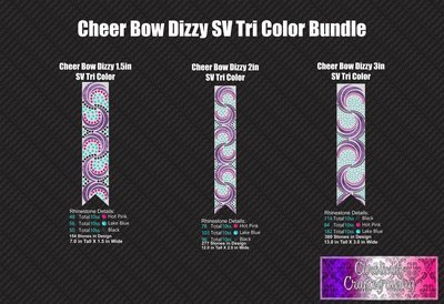 Dizzy Cheer Bow Stone Vinyl Tri Color Bundle