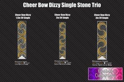 Dizzy Cheer Bow Stone Vinyl Single Color Bundle