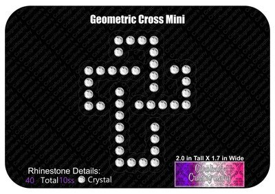 Geometric Cross Mini Decal
