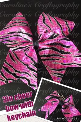 Pink Zebra Cheer Bow Bundle  **RTS**