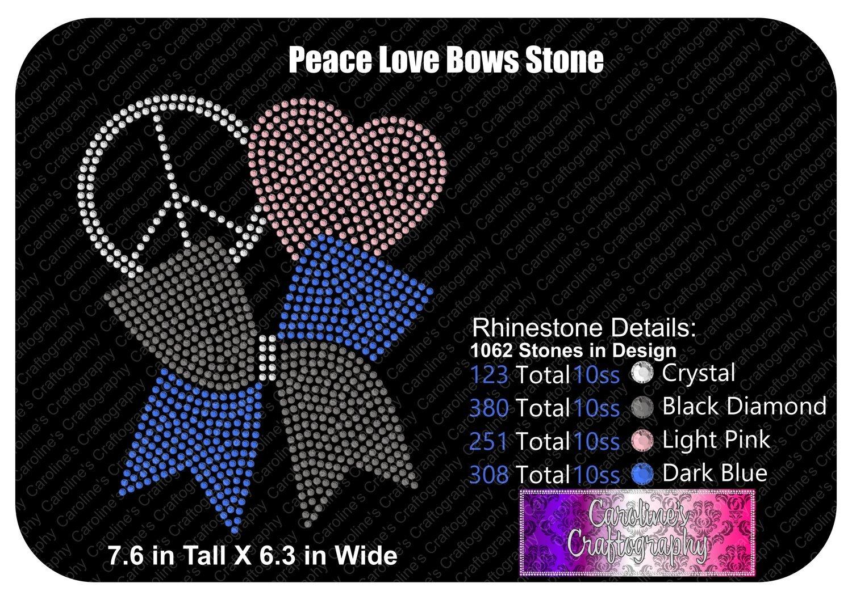 Peace Love Bows Stone