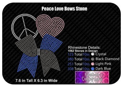 Peace Love Bows Stone