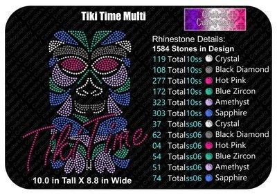 Tiki Time Stone Multi Color