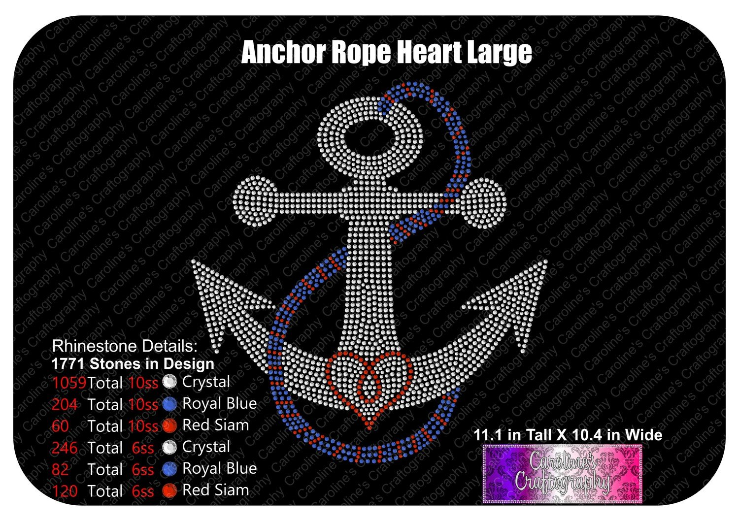 Anchor Rope Heart Stone Large