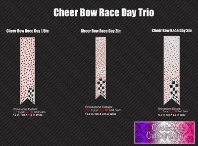 Race Day Cheer Bow Trio