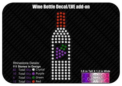 Wine Bottle Decal LVE Add-on