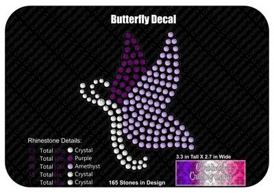 Butterfly Stone Decal
