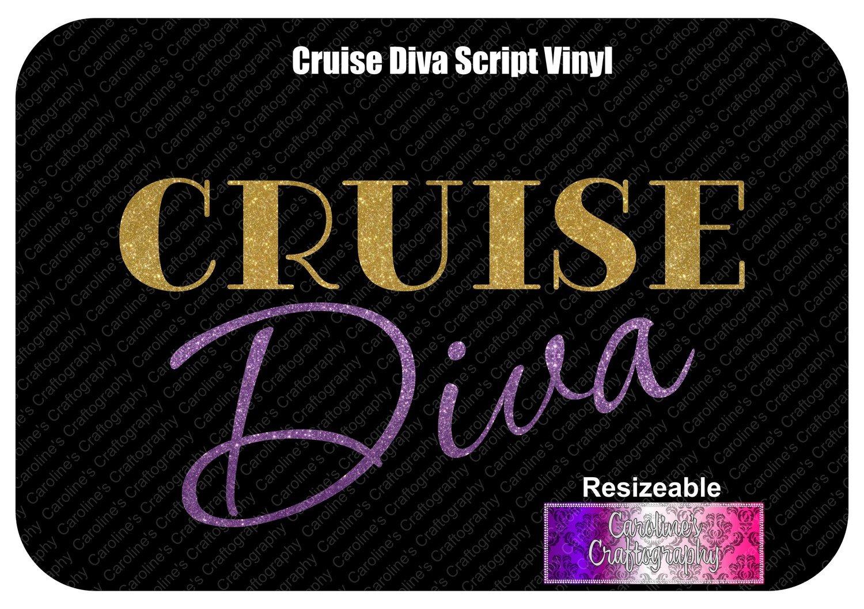 Cruise Diva Script Vinyl